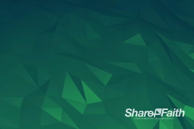 Green Shape Shifting Worship Video Background