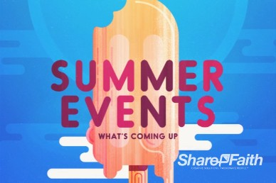 Church Summer Events Intro Video Loop