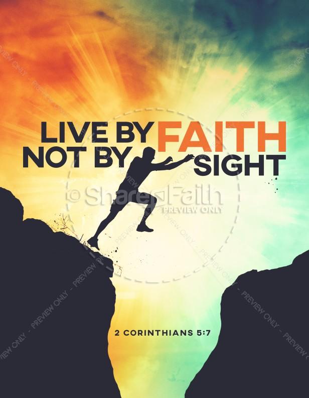 Live By Faith Church Flyer