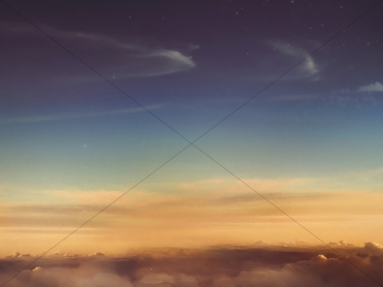 sky above the clouds worship background