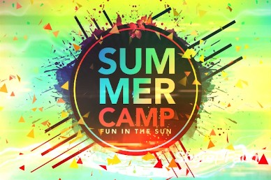 Summer Camp Fun in the Sun Intro Video Loop