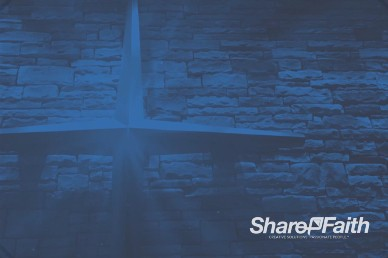 Shining Cross on Brick Wall Worship Video Background