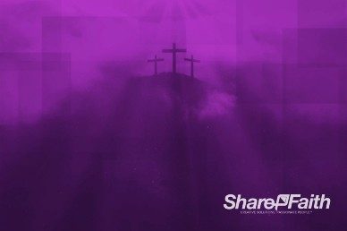 Geometric Cross at Calvary Worship Video Background
