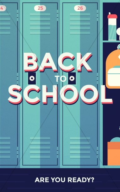 Get Ready for Back to School Church Bulletin
