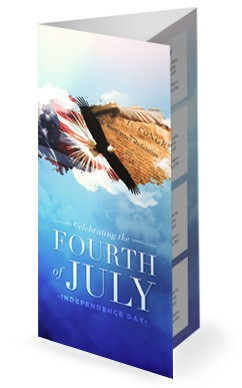 American Independence Day Church Trifold Bulletin