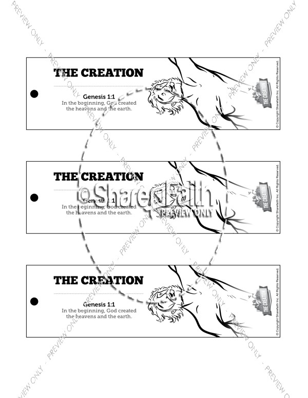The Creation Story Bible Bookmarks