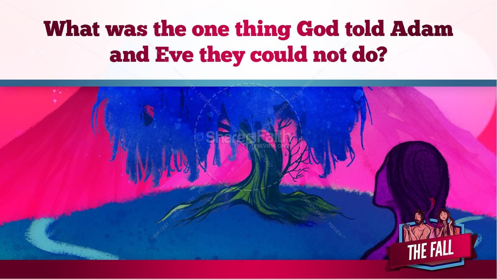 The Fall Of Man Genesis 3 Kids Bible Story | slide 12