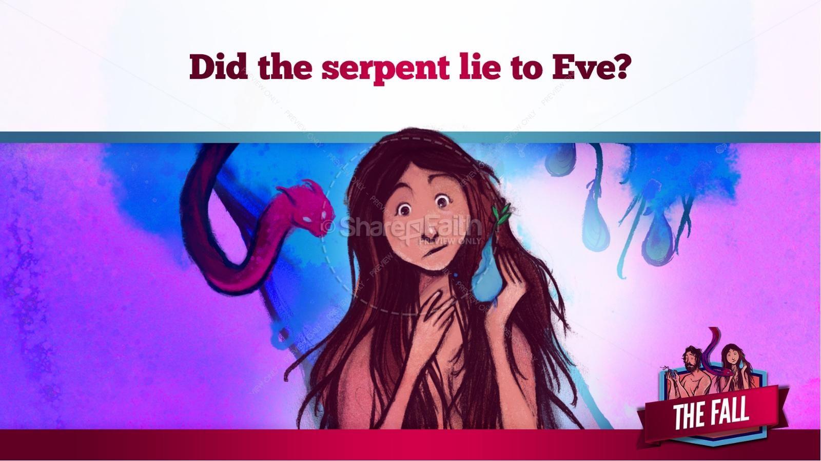 The Fall Of Man Genesis 3 Kids Bible Story | slide 22