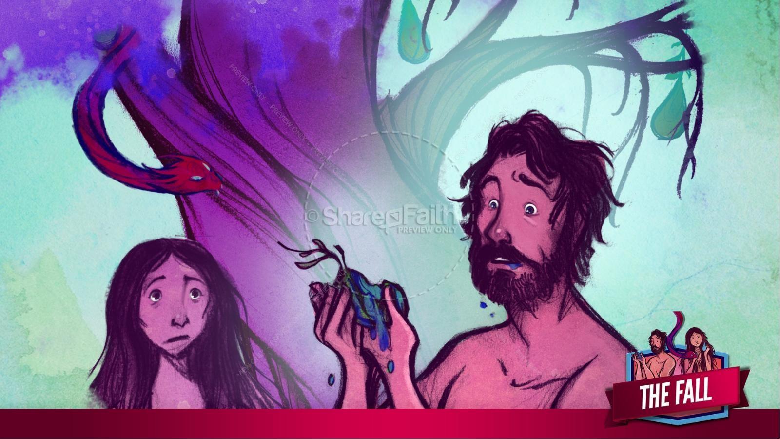 The Fall Of Man Genesis 3 Kids Bible Story | slide 23