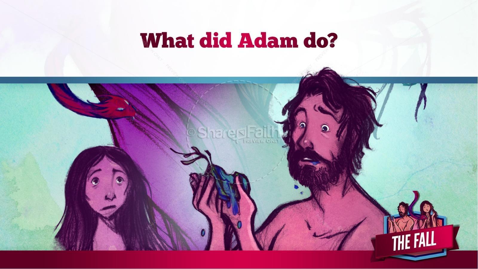 The Fall Of Man Genesis 3 Kids Bible Story | slide 24