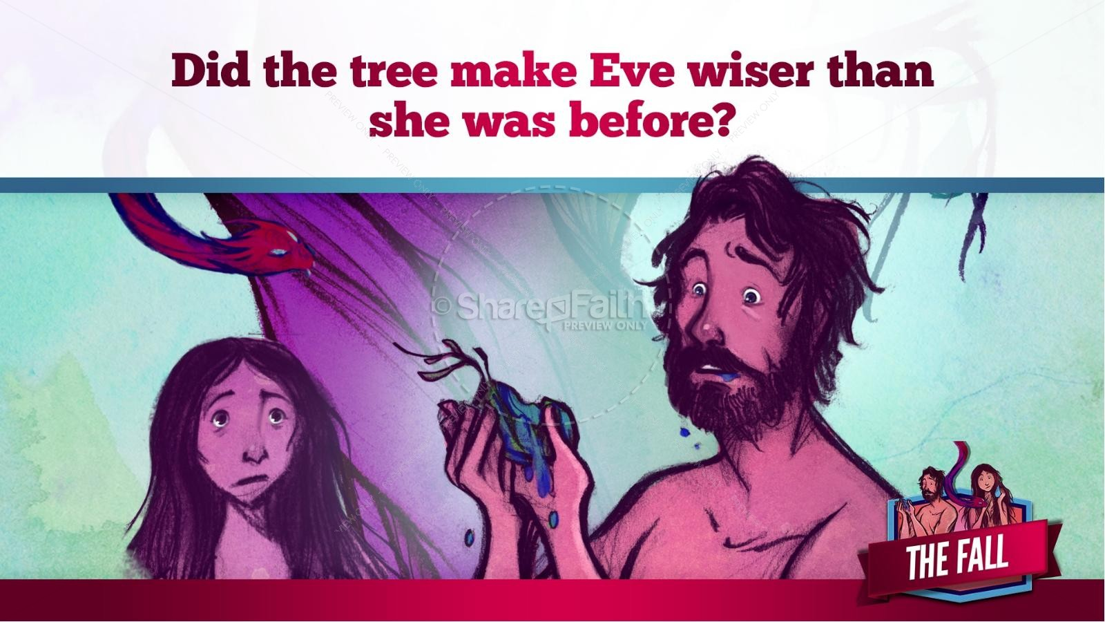The Fall Of Man Genesis 3 Kids Bible Story | slide 26