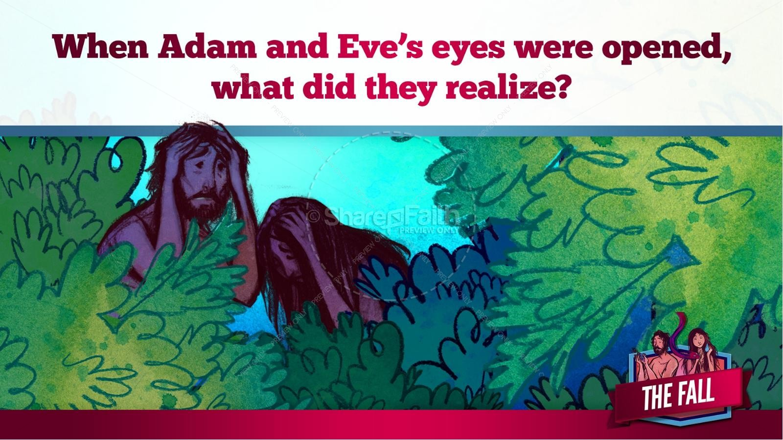 The Fall Of Man Genesis 3 Kids Bible Story | slide 28