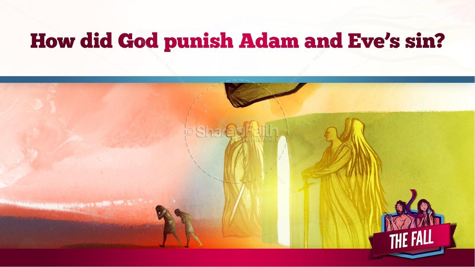 The Fall Of Man Genesis 3 Kids Bible Story   slide 32