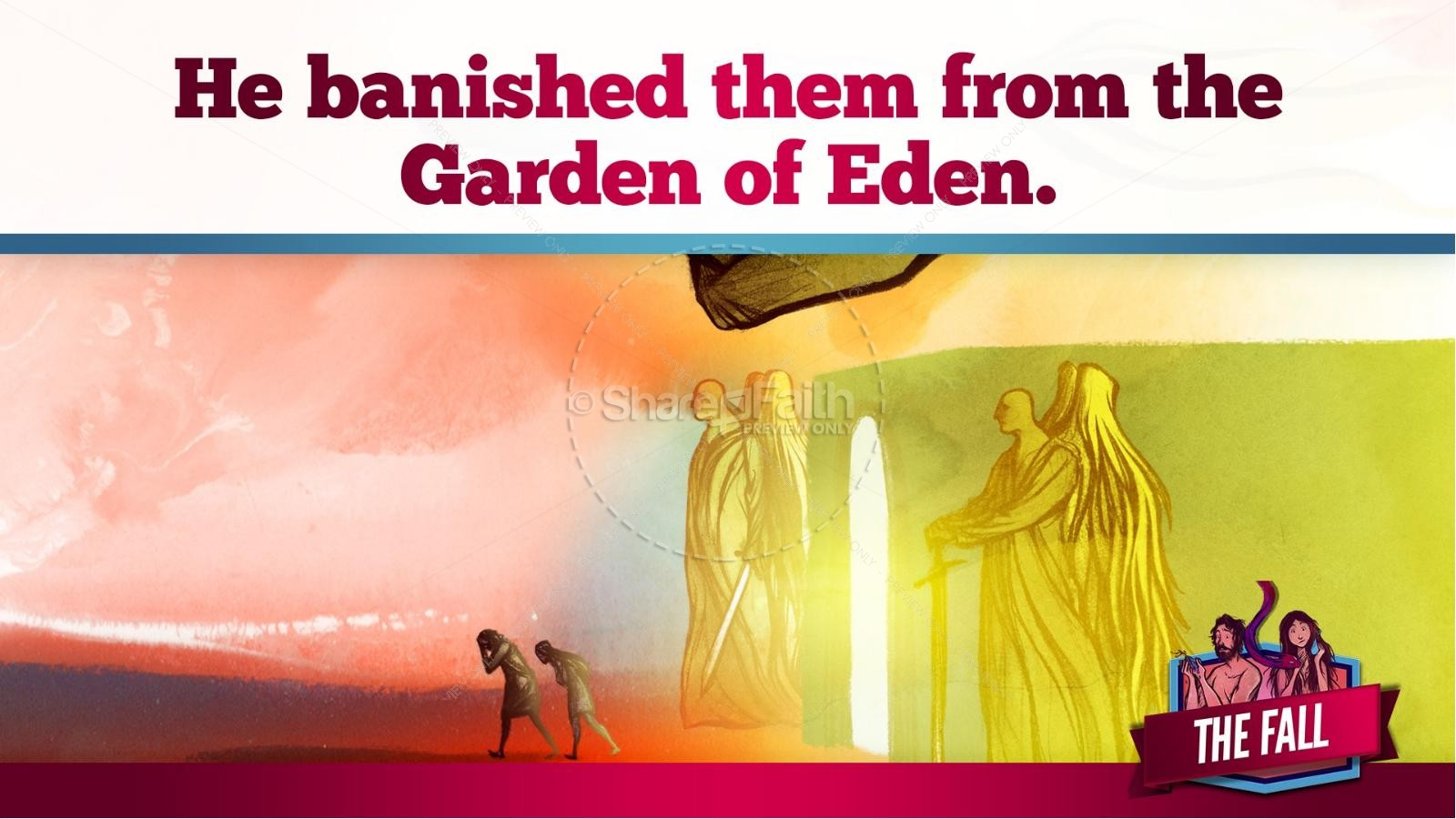 The Fall Of Man Genesis 3 Kids Bible Story | slide 33