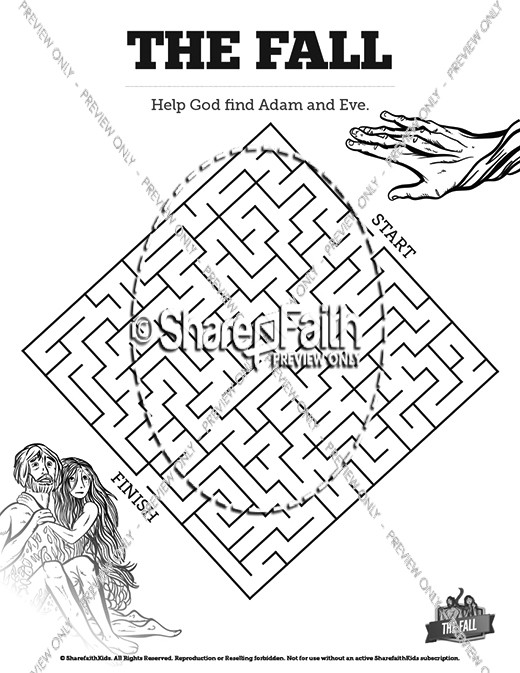 The Fall Of Man Genesis 3 Bible Mazes