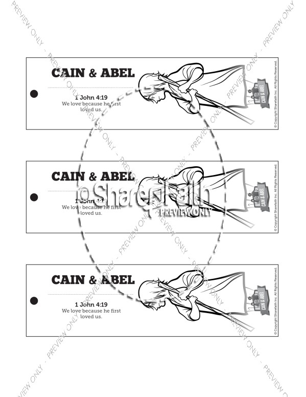 Cain and Abel Bible Bookmarks