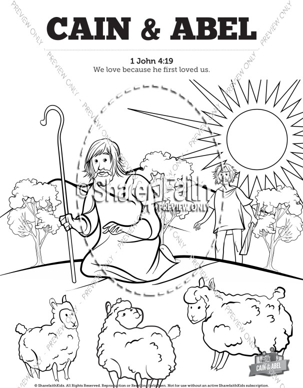 Cain and Abel Bible Coloring Pages