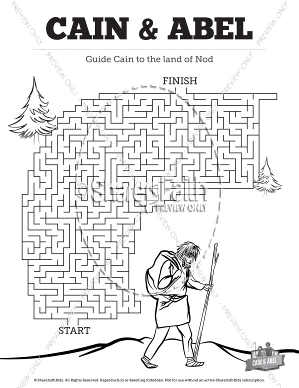 Cain and Abel Bible Mazes