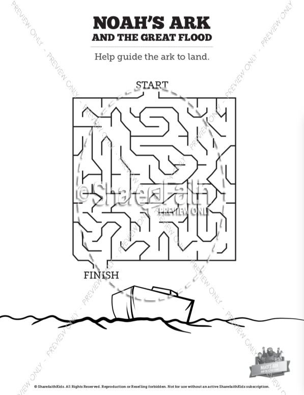 Noah's Ark Flood Bible Mazes