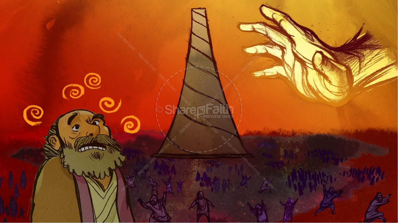 Tower of Babel Bible Story For