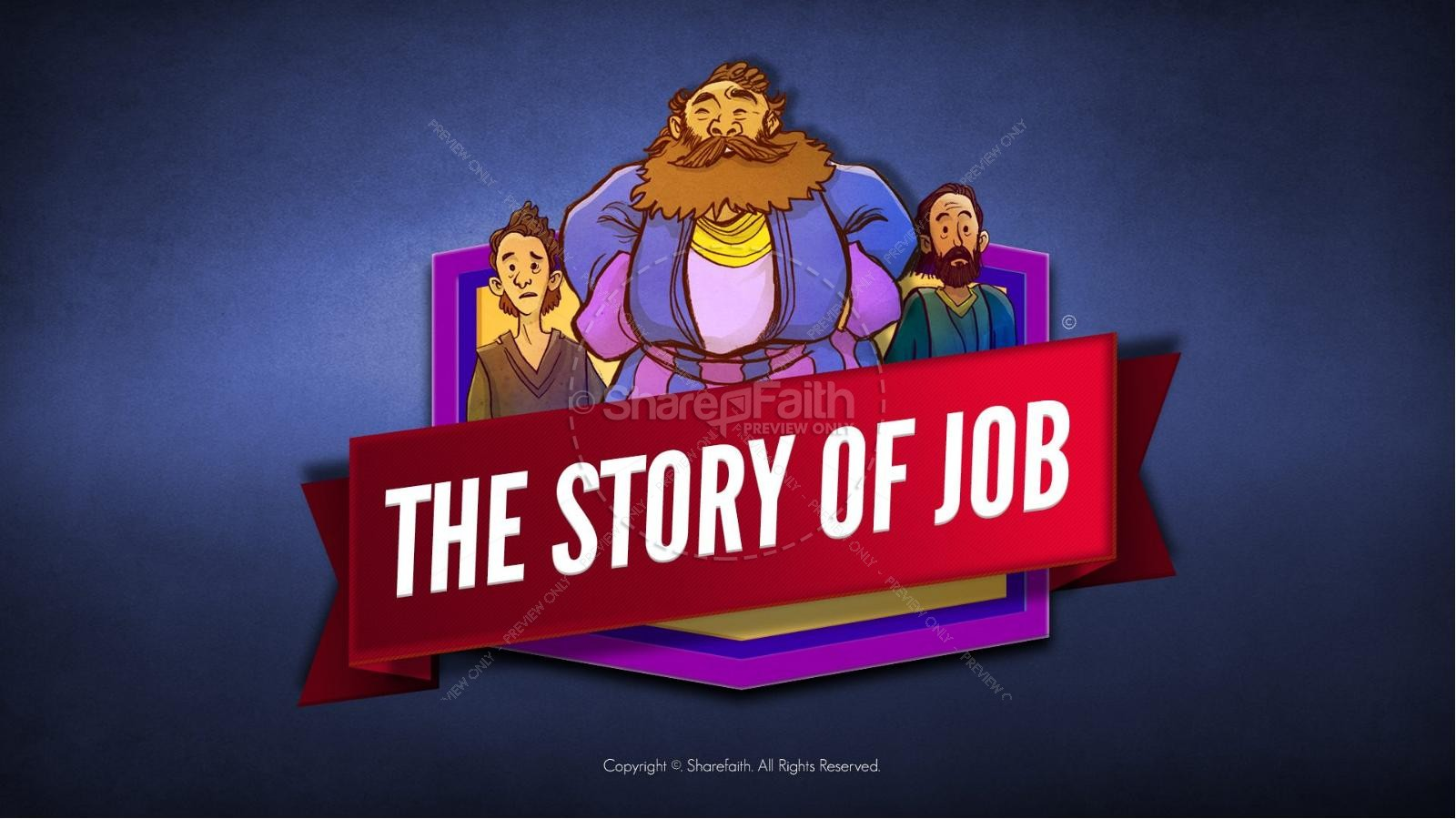 The Story of Job Kids Bible Lesson | slide 1