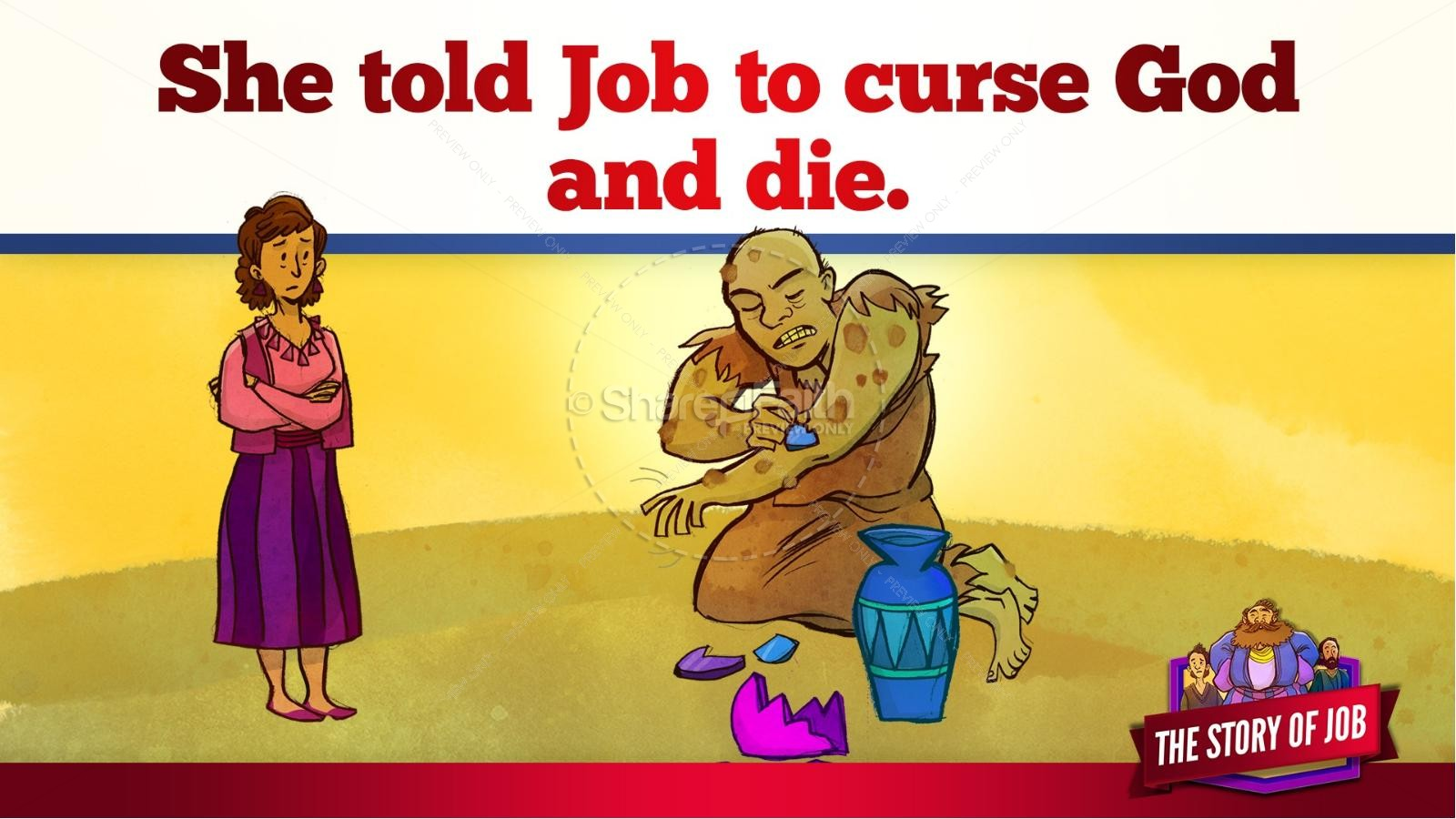 The Story of Job Kids Bible Lesson | slide 29