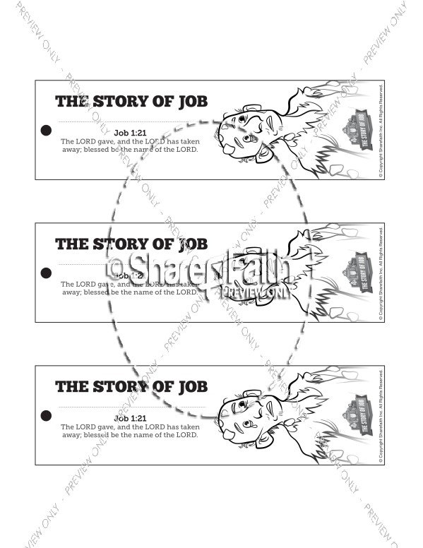 The Story of Job Bible Bookmarks