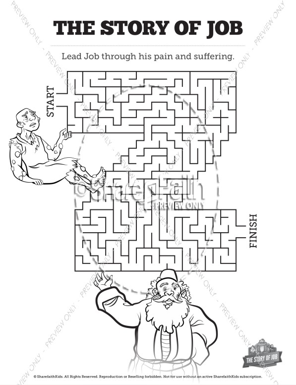 The Story of Job Bible Mazes