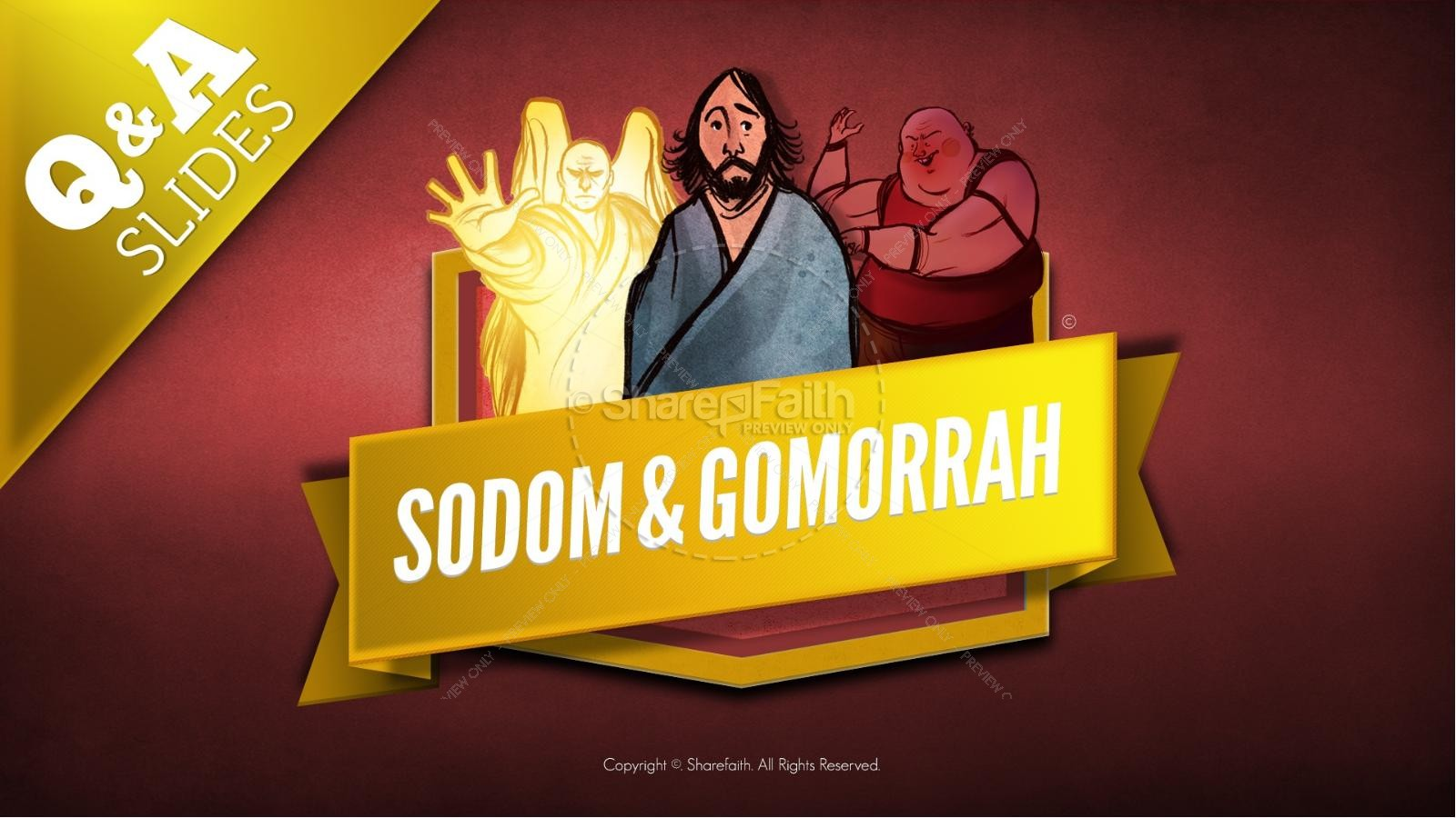Sodom and Gomorrah Kids Bible Story
