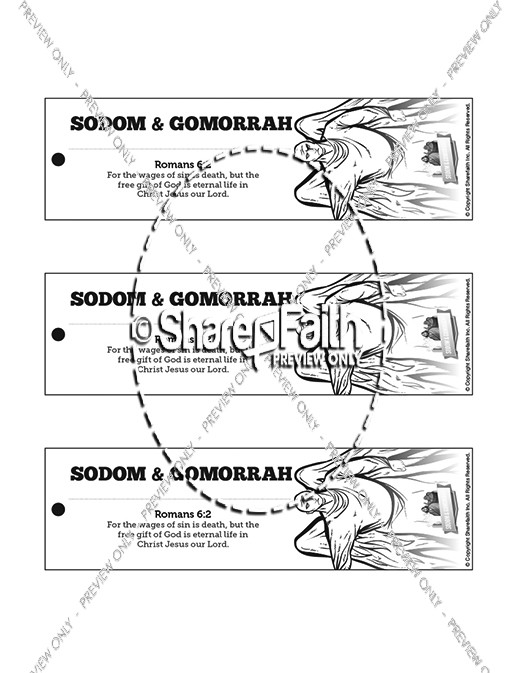 The Story Of Sodom And Gomorrah Bible Bookmarks