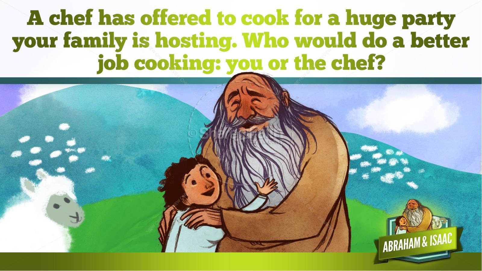 Abraham and Isaac Kids Bible Story   slide 20