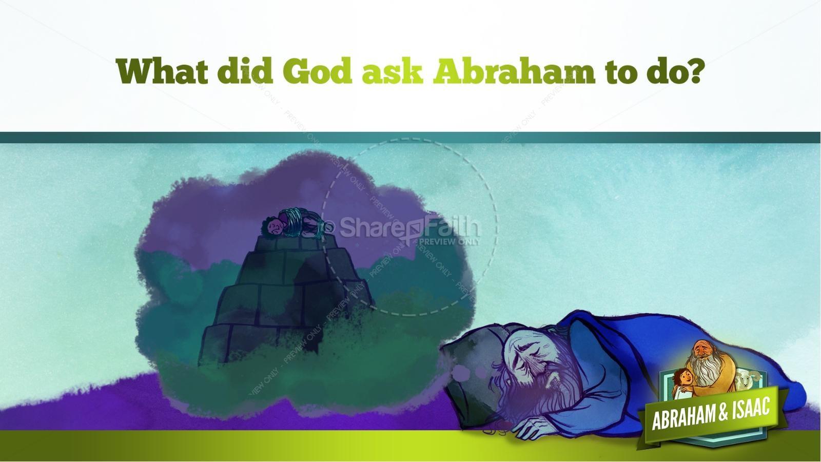 Abraham and Isaac Kids Bible Story | slide 22