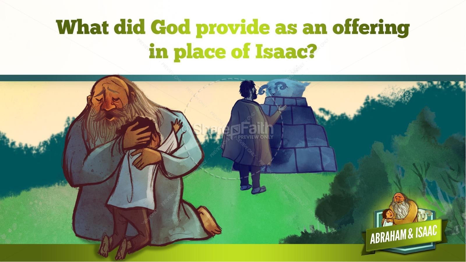 Abraham and Isaac Kids Bible Story | slide 30