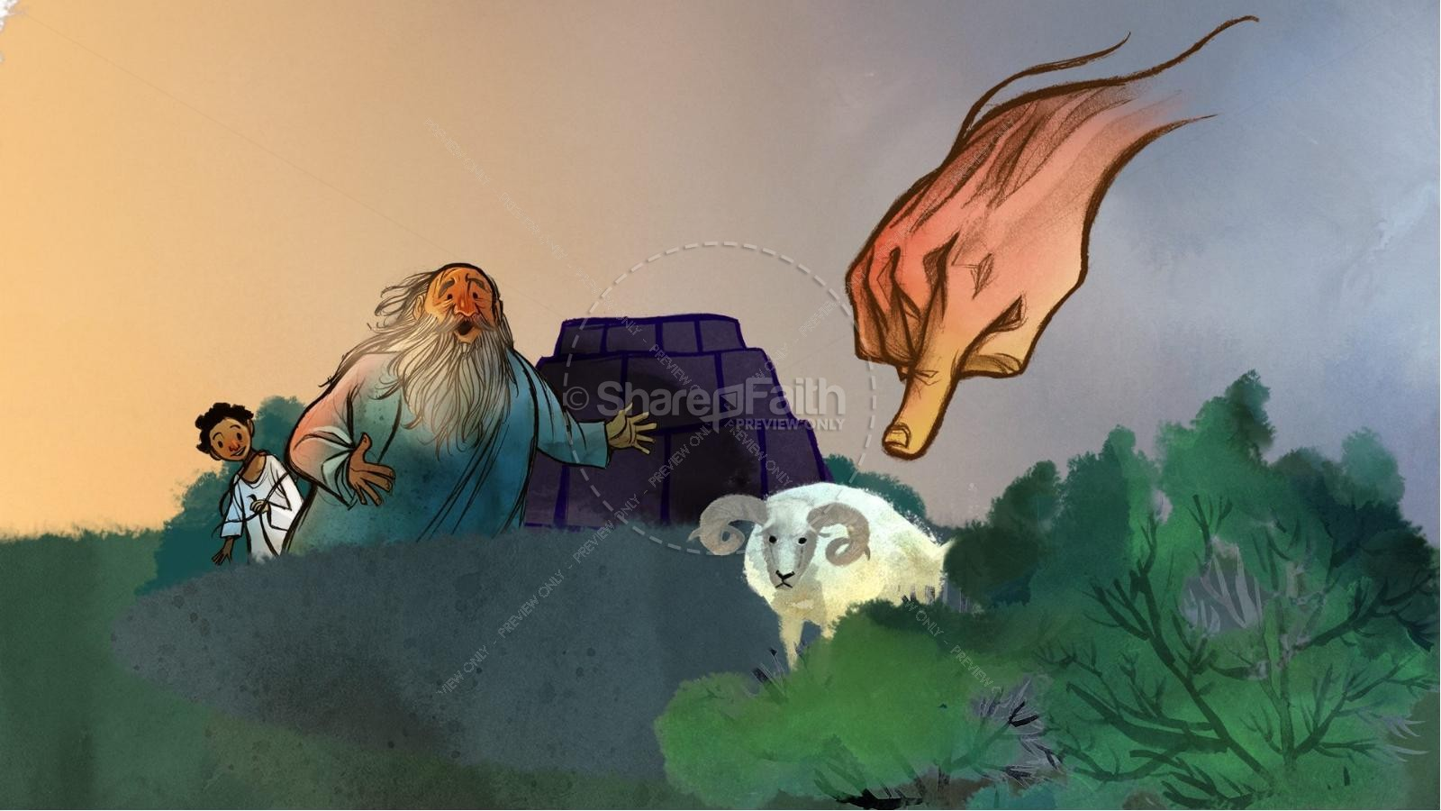 Abraham and Isaac Kids Bible Story