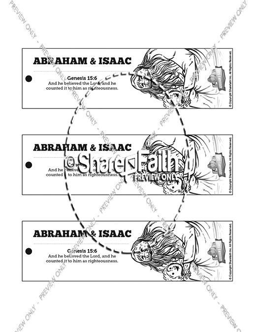 Abraham and Isaac Bible Bookmarks