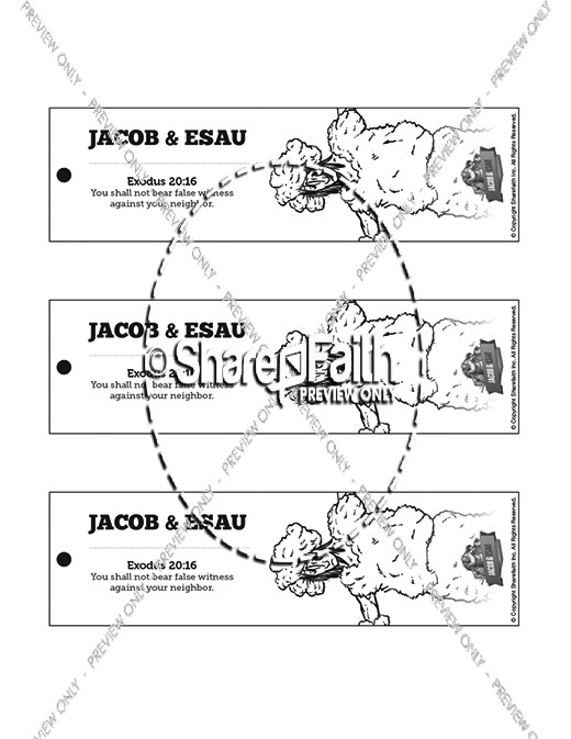 Story of Jacob and Esau Bible Bookmarks