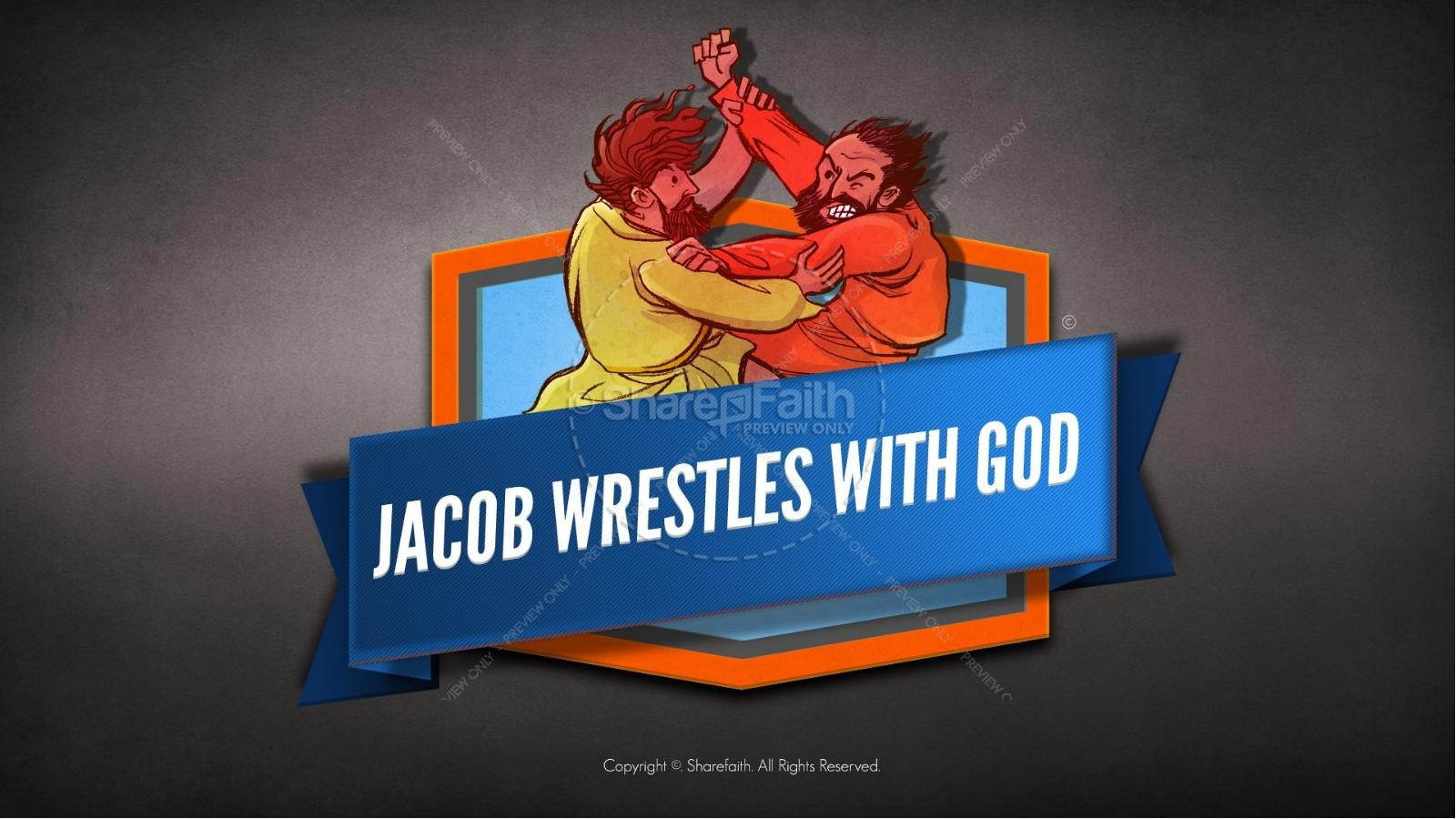 Jacob Wrestles With God Kids Bible Story