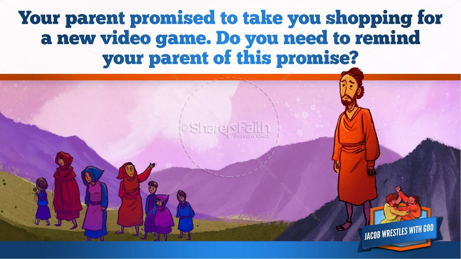 Jacob Wrestles With God Kids Bible Story | slide 18