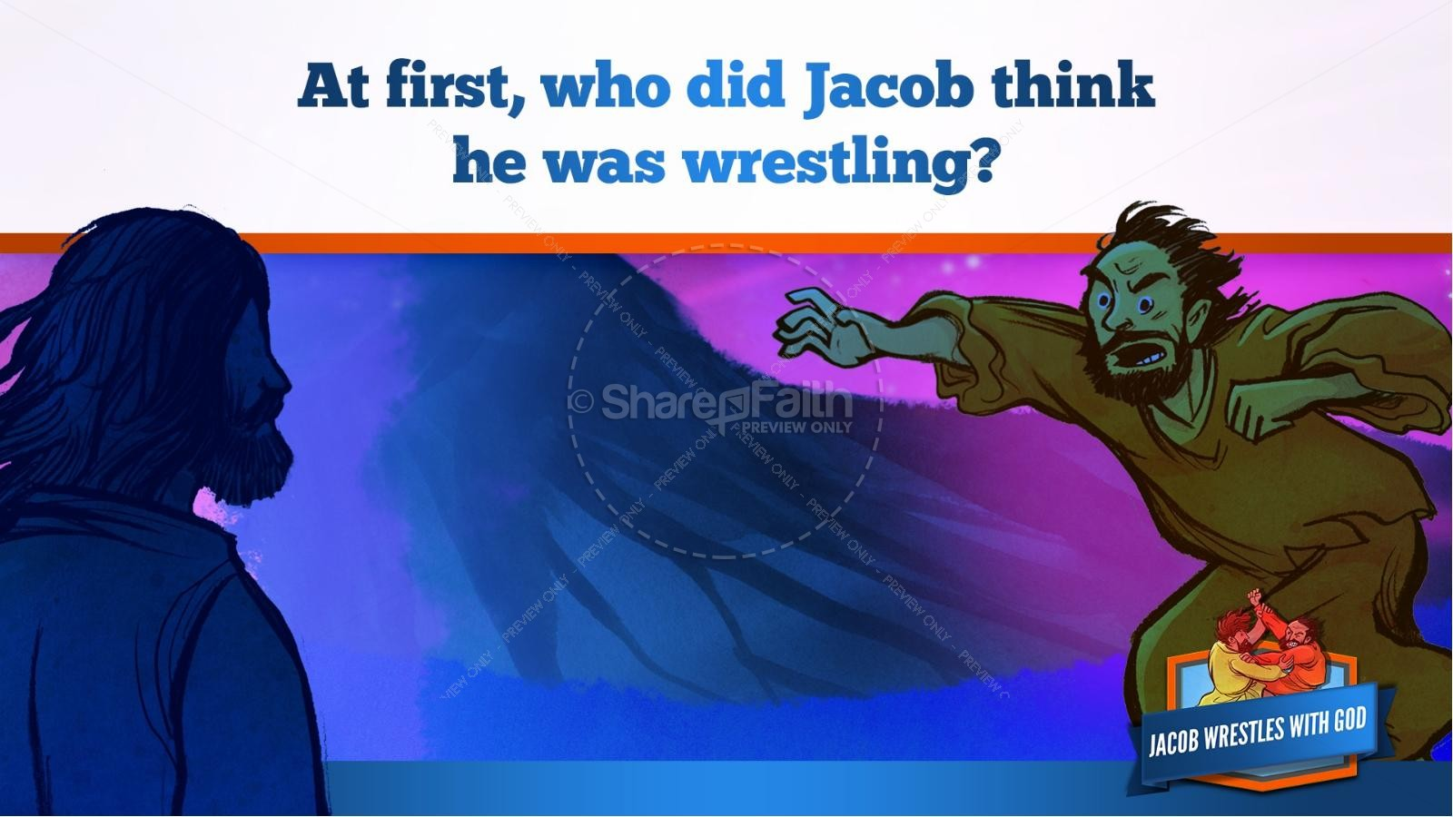 Jacob Wrestles With God Kids Bible Story | slide 20