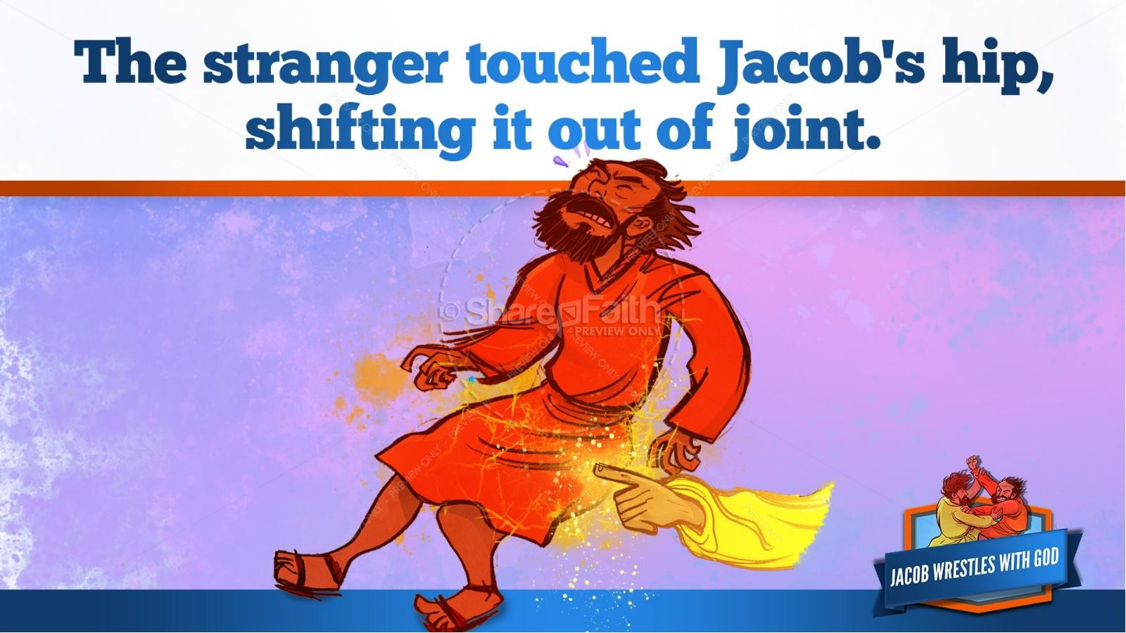 Jacob Wrestles With God Kids Bible Story | slide 25
