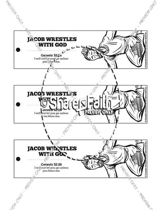 The Story Of Jacob Wrestling With God Bible Bookmarks