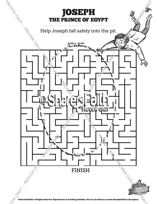 The Story Of Joseph the Prince of Egypt Bible Mazes