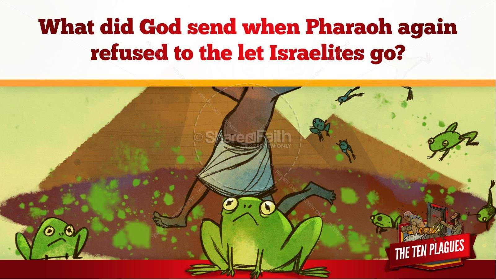 The Ten Plagues Kids Bible Story | slide 52