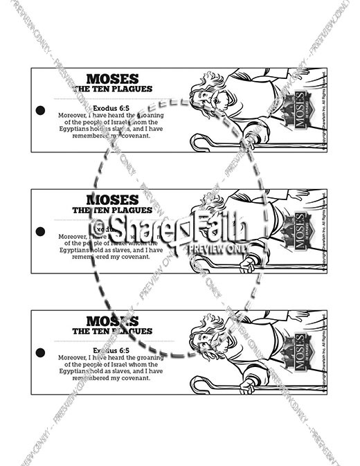 The Ten Plagues Bible Bookmarks