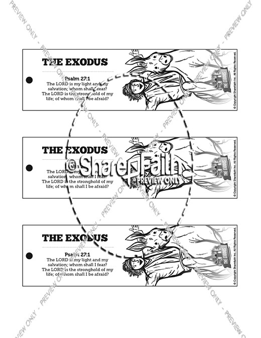 The Exodus Story Bible Bookmarks