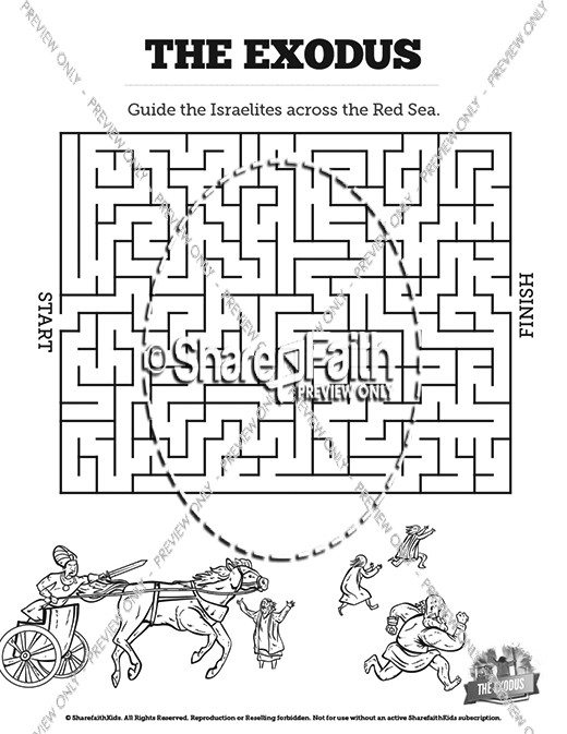 The Exodus Story Bible Mazes