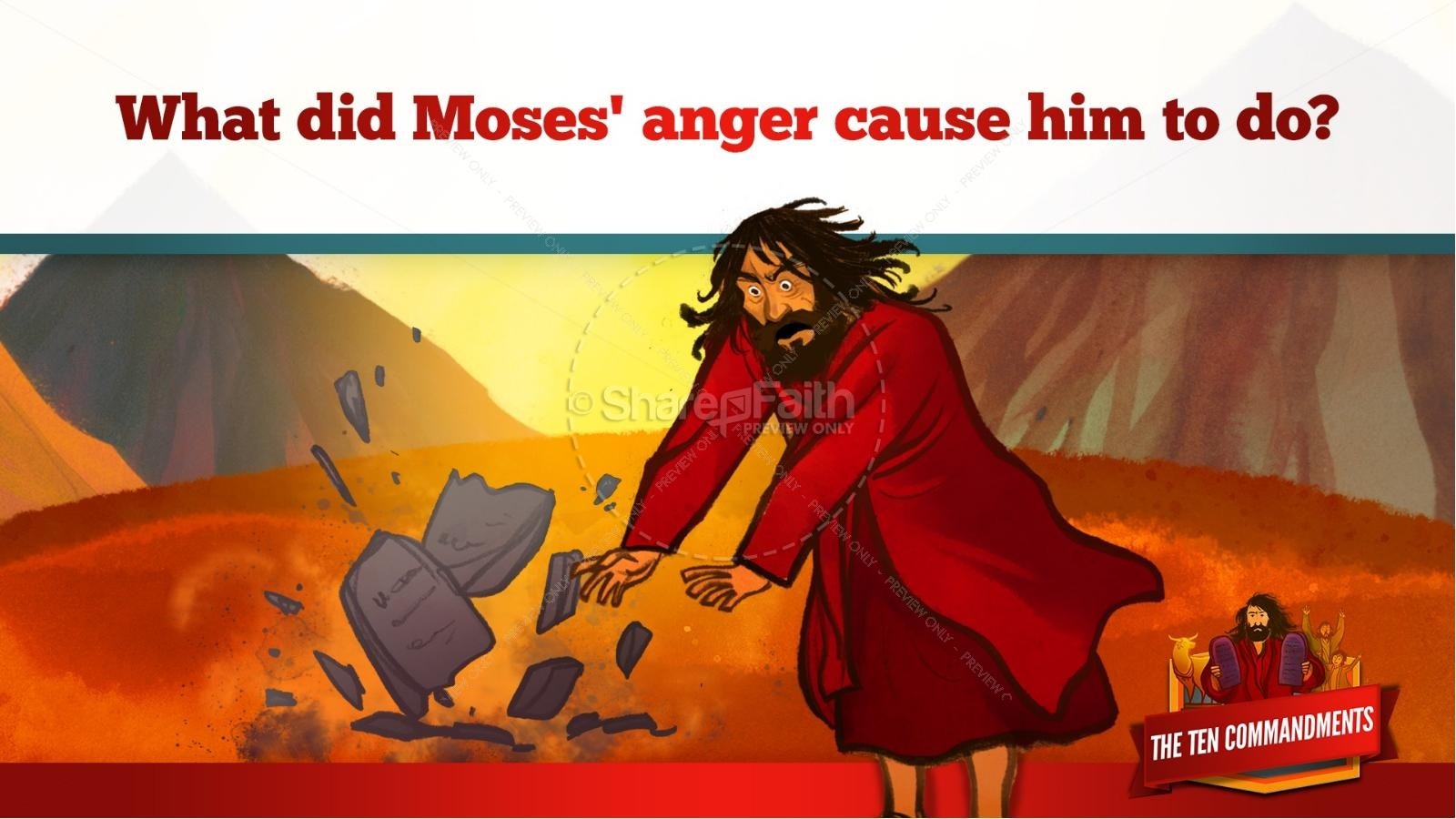The Ten Commandments Kids Bible Stories | slide 26