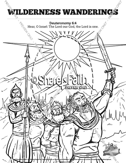 40 Years In The Wilderness Sunday School Coloring Pages