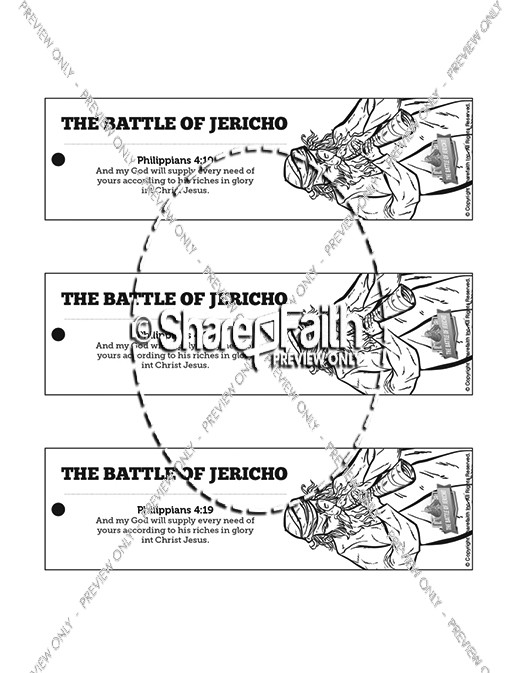The Battle of Jericho Bible Bookmarks