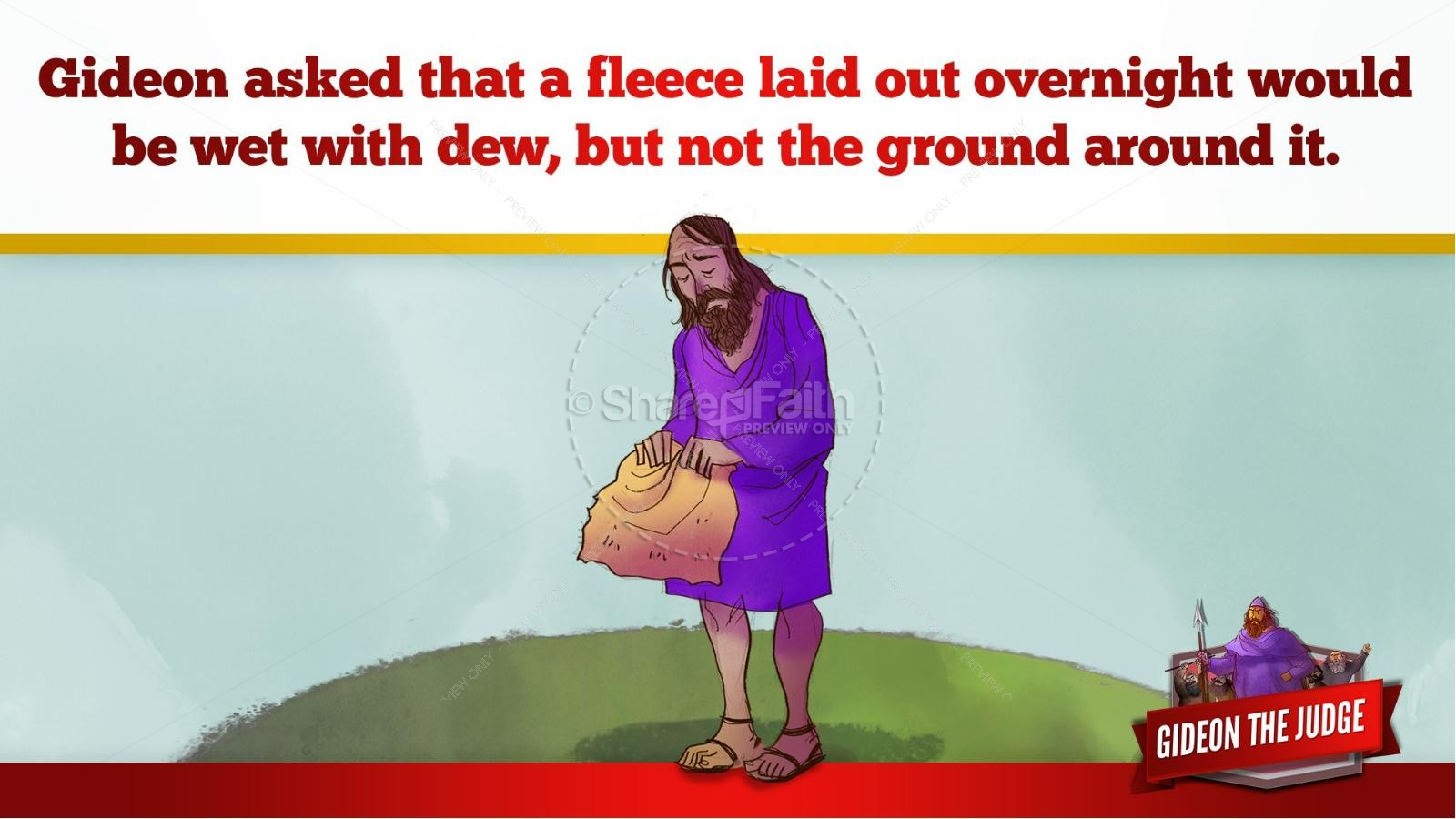 Judges 6 Gideon and the 300 Kids Bible Lesson | slide 43
